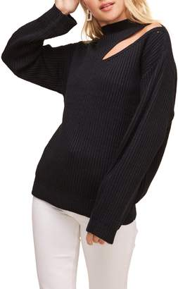 ASTR the Label Cutout Turtleneck Sweater