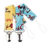 Bumkins Dr. Seuss One Fish, Two Fish & Things 2-pk. Waterproof Pacifier Clips
