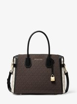 MICHAEL Michael Kors Mercer Medium Color-Block Logo Belted Satchel