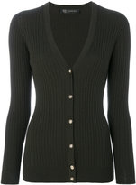 Versace V-neck cardigan - women - Polyester/Wool - 38