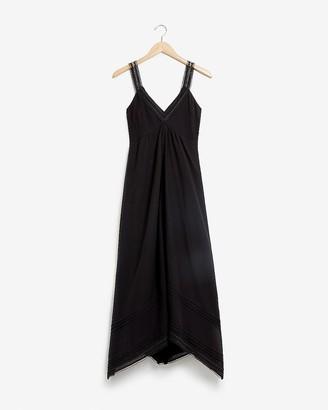 Express Lace Trim Midi Dress