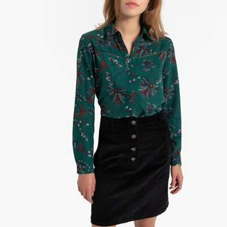 Only Floral Print Shirt with 3/4 Length Sleeves