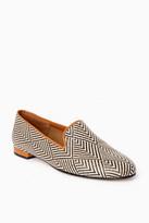 Jon Josef Shoes Raffia Batik Gatsby Loafers