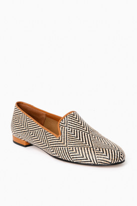 Jon Josef Shoes Raffia Batik Gatsby Loafers
