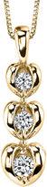 Sirena 1/8 CT. T.W. Diamond 14K Yellow Gold Heart Pendant Necklace