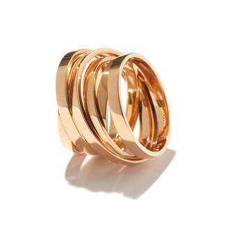 Repossi Technical Berbere Ring in 18K Rose Gold