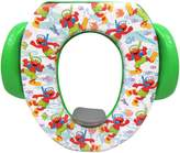 Disney Seat - Padded, Soft and Durable - For Regular and Elongated Toilets - Removable Cushion for Easy Cleaning - Firm Grip Handles - Green and White
