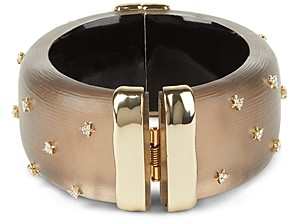 Alexis Bittar Large Studded Lucite Hinge Bracelet