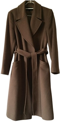 Jaeger Beige Wool Trench Coat for Women