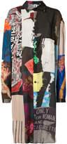 Yohji Yamamoto patchwork longline shirt