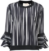 Nicole Miller ruffle sleeve blouse