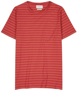 Oliver Spencer Conduit red striped cotton T-shirt