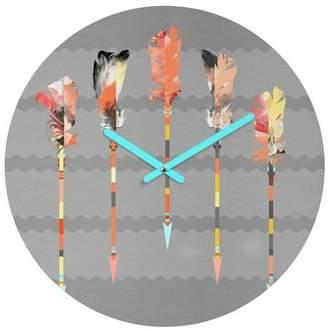 "Deny Designs Decorative Clock 12"""
