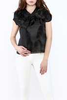 Moon Collection Silky Cap Sleeve Blouse