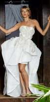 Nika Strapless High Low Exaggerated Ruffle Serene Gown