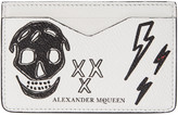 Alexander McQueen White Leather Doodle Card Holder