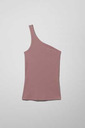 Weekday Vida One Shoulder Top - Pink