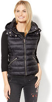 New York & Co. Quilted Hooded Puffer Vest