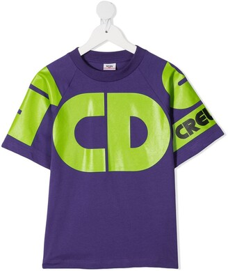 Gcds Kids Cotton Logo-Print T-Shirt