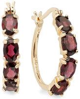 Townsend Victoria 18k Gold over Sterling Silver Earrings, Garnet Hoop Earrings (4-3/8 ct. t.w.)