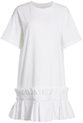 See by Chloe Ruffle Trim T-Shirt Dress