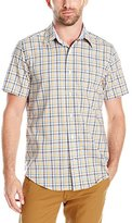Nautica Men's Classic Fit Wrinkle Resistant Plaid Short Sleeve Shirt