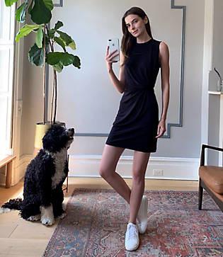 Lou & Grey Signaturesoft Jersey Twist Mini Dress