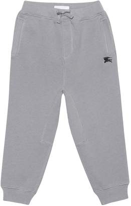 Burberry Embroidered cotton trackpants