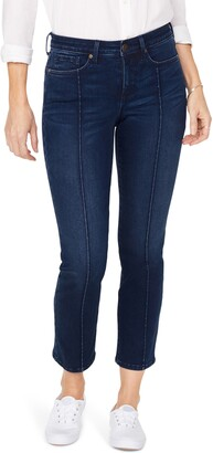 NYDJ Sheri Pintucked Stretch Ankle Jeans