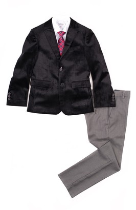 Isaac Mizrahi Velvet Slim Fit 4-Piece Suit (Toddler & Little Boys)