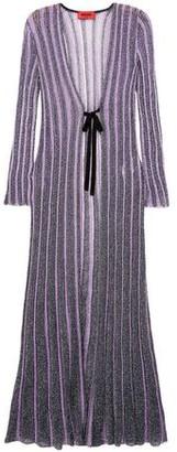 Missoni Ribbed Metallic Crochet-knit Cardigan