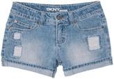 DKNY Girls' Rip And Repair Short