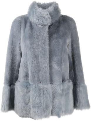 Suprema Long-Sleeve Fur Coat