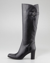 Sesto Meucci Buckle-Back Knee Boot, Black