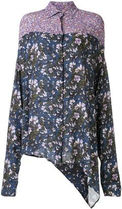 Unravel Project Contrast Floral-Print Shirt