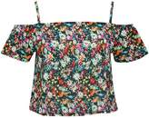 M&Co Floral print cold shoulder top