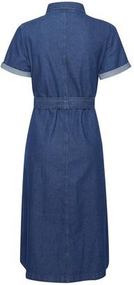 Dorothy Perkins Petite Indigo Denim Shirt Dress - Blue