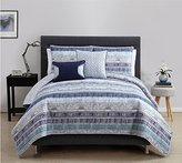Victoria Classics Blue Adelaide 5 Piece Quilt Set Full Bedding - Queen Bedding