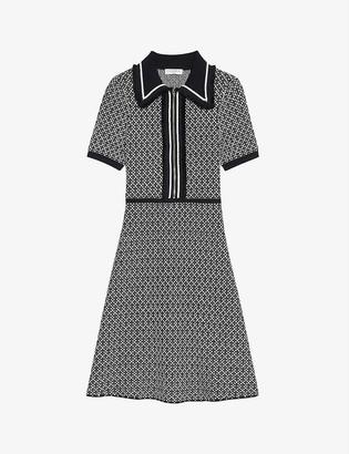 Sandro Polie woven mini dress