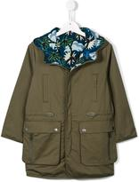 Stella McCartney reversible parka coat - kids - Cotton/Polyester - 4 yrs