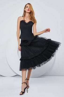 Cristallini Strapless Illusion Blouse and Skirt