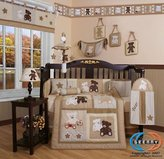 Boutique Baby Teddy Bear 13PCS CRIB BEDDING SET By GEENNY Designs