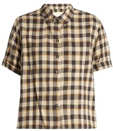 The Great The Bias short-sleeved tartan cotton shirt