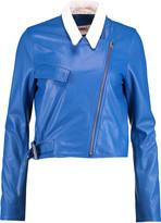 MM6 MAISON MARGIELA Cropped leather biker jacket