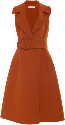 Oscar de la Renta Trench Wool-Cashmere Midi Dress
