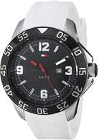 Tommy Hilfiger Men's 1790986 Cool Sport Ion-Plated Case White Silicone Strap Watch