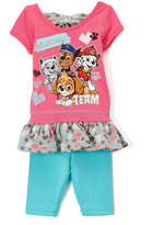 Children's Apparel Network PAW Patrol Pink Ruffle Tee & Leggings - Infant & Toddler
