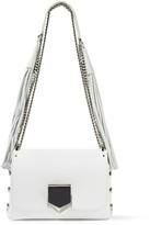 Jimmy Choo Lockett Petite Tasseled Leather Shoulder Bag - White