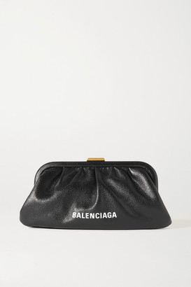 Balenciaga Cloud Xs Printed Textured-leather Clutch