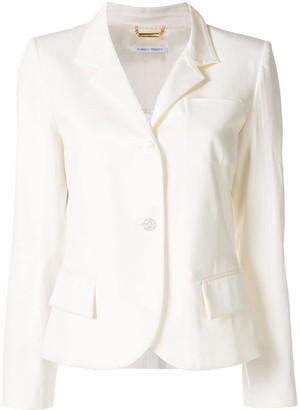 Alberta Ferretti Cropped Button Blazer